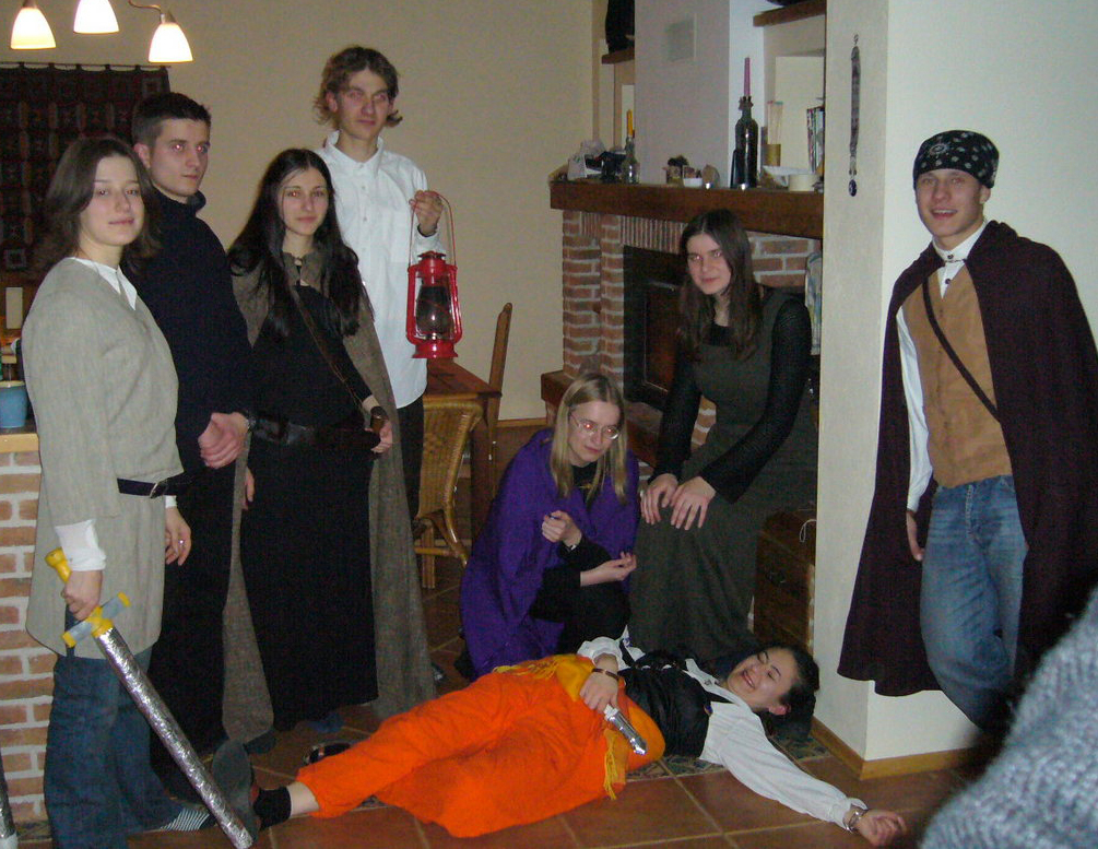 """(c) Lithuanian Tolkien Society, LARP """"Inn 'Under the Willow'"""", New Year, 2006"""