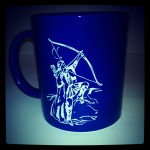 German Tolkien Society Mug featuring Legolas
