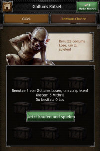 Screenshot 'The Hobbit: Kingdoms of Middle-earth' . Play with Gollum