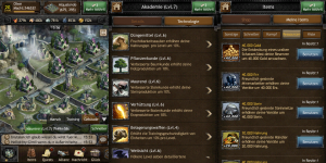 """Screenshots 'The Hobbit: Kingdoms of Middle-earth"""". Technologies, Ressources, City"""