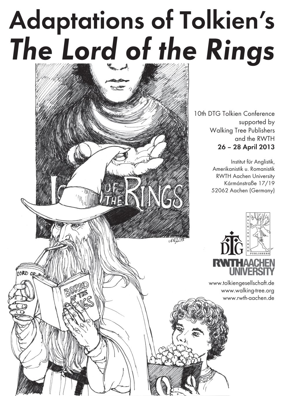"Tolkien Seminar Aachen, Adaptations of Tolkien's ""The Lord of the Rings"", (c) Anke Eißmann"