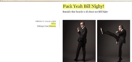 Fuck Yeah, Bill Nighy - tumblr