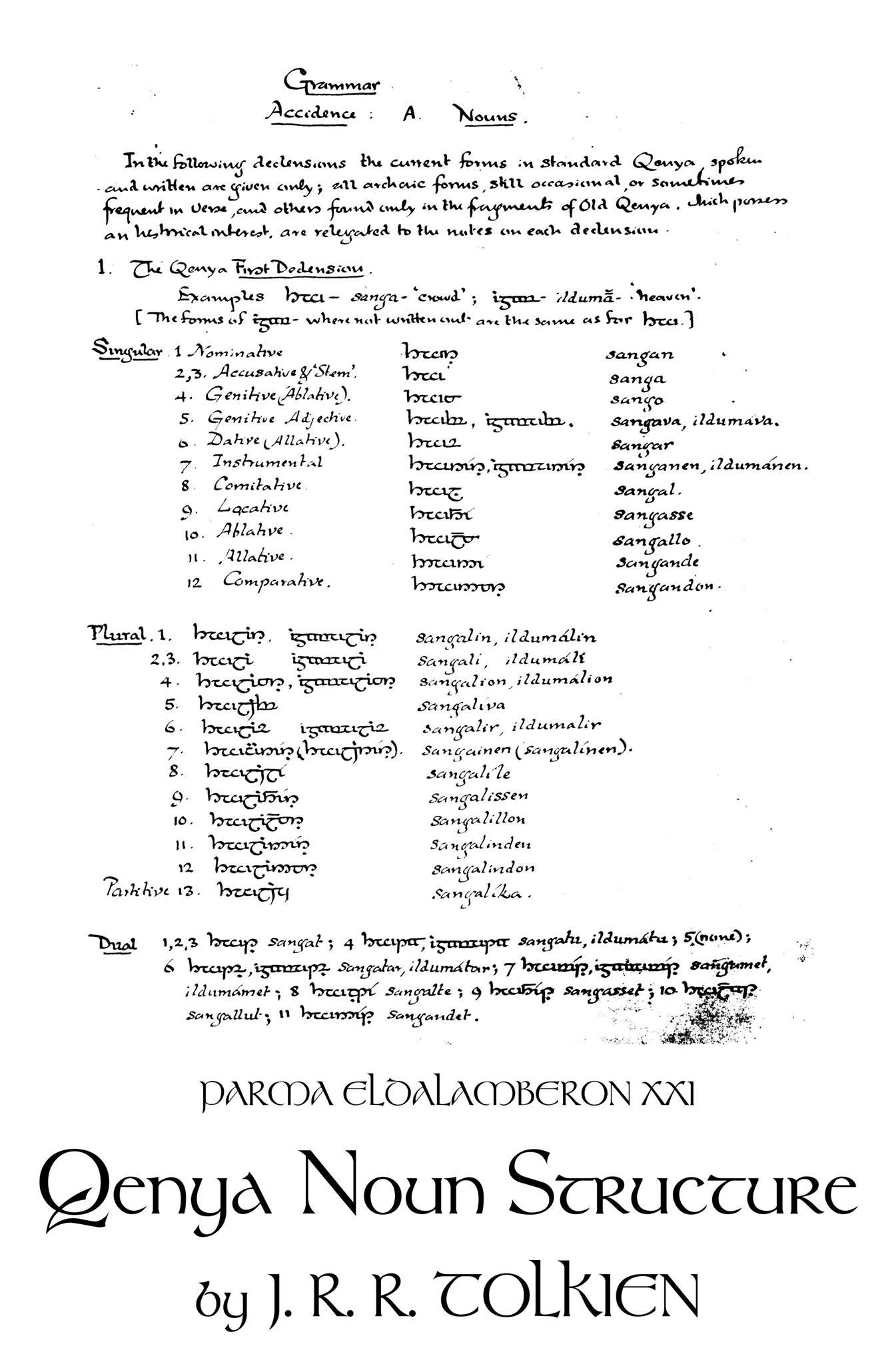 Parma Eldalamberon 21 (c) Tolkien Estate and respective owners