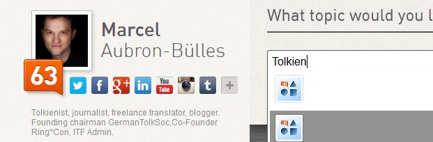 Me at Klout - add Tolkien!