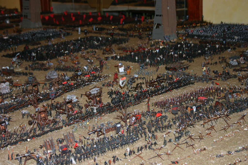 """50,000 Orcs"" diorama. Picture: (c) Stefan Servos"