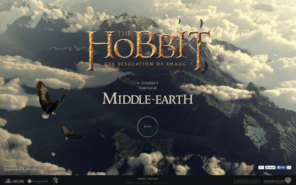 Google Chrome Middle-earth Experiment (c) Google, Warner Bros. etc.