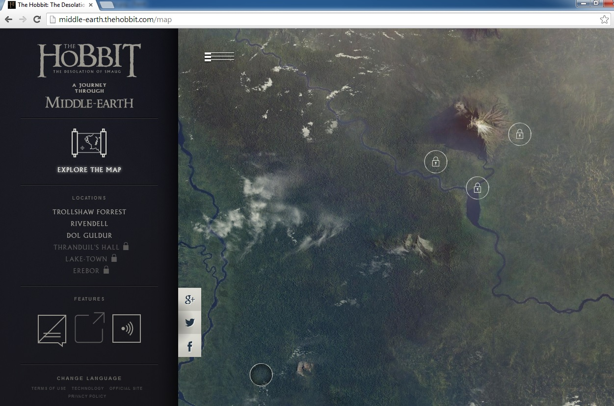Middle earth Google Chrome Hobbit Experience the