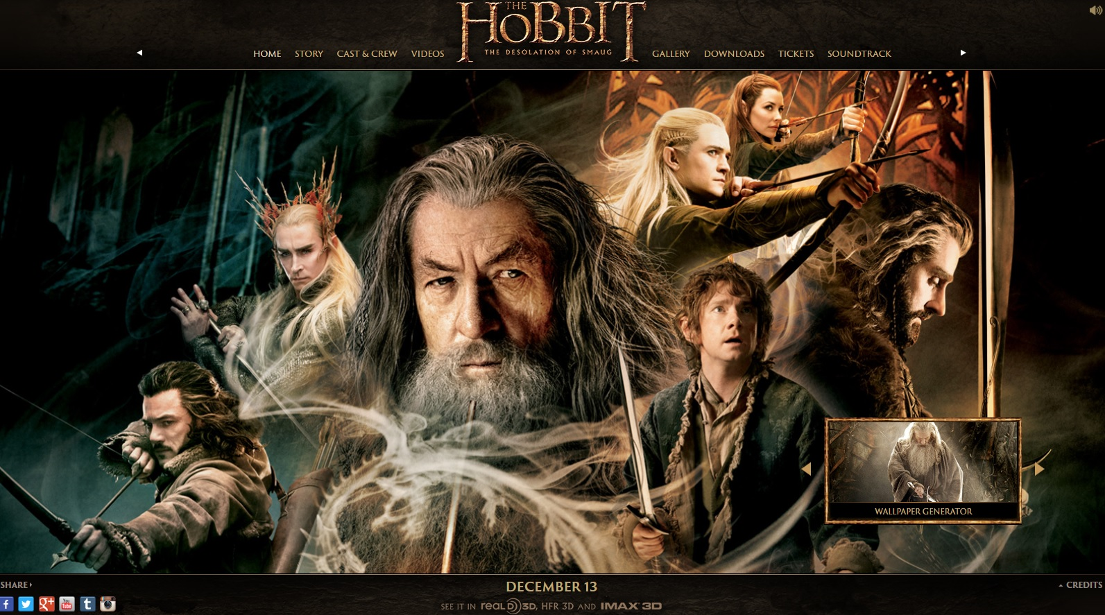 The Hobbit: The Desolation of Smaug (c) Warner Bros. etc.