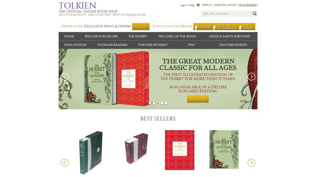 Official Tolkien bookstore - Tolkien.co.uk