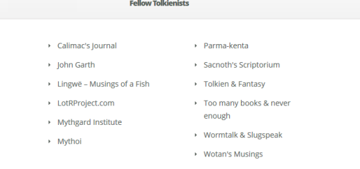 The Tolkienist's blog roll