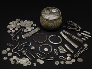 The Vale of York hoard, AD 900s. North Yorkshire, England. Silver-gilt, gold, silver. British Museum, London/Yorkshire Museum, York. © The Trustees of the British Museum.
