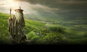 The Hobbit: An Unexpected Journey. Gandalf Wallpaper (c) Warner Bros et al.