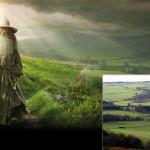 Hobbit:AUJ Gandalf Wallpaper with Andrew Curtis (c) Warner Bros et al.