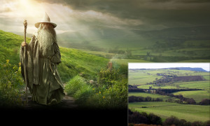 Hobbit:AUJ Gandalf Wallpaper with Andrew Curtis (c) Warner Bros et al.