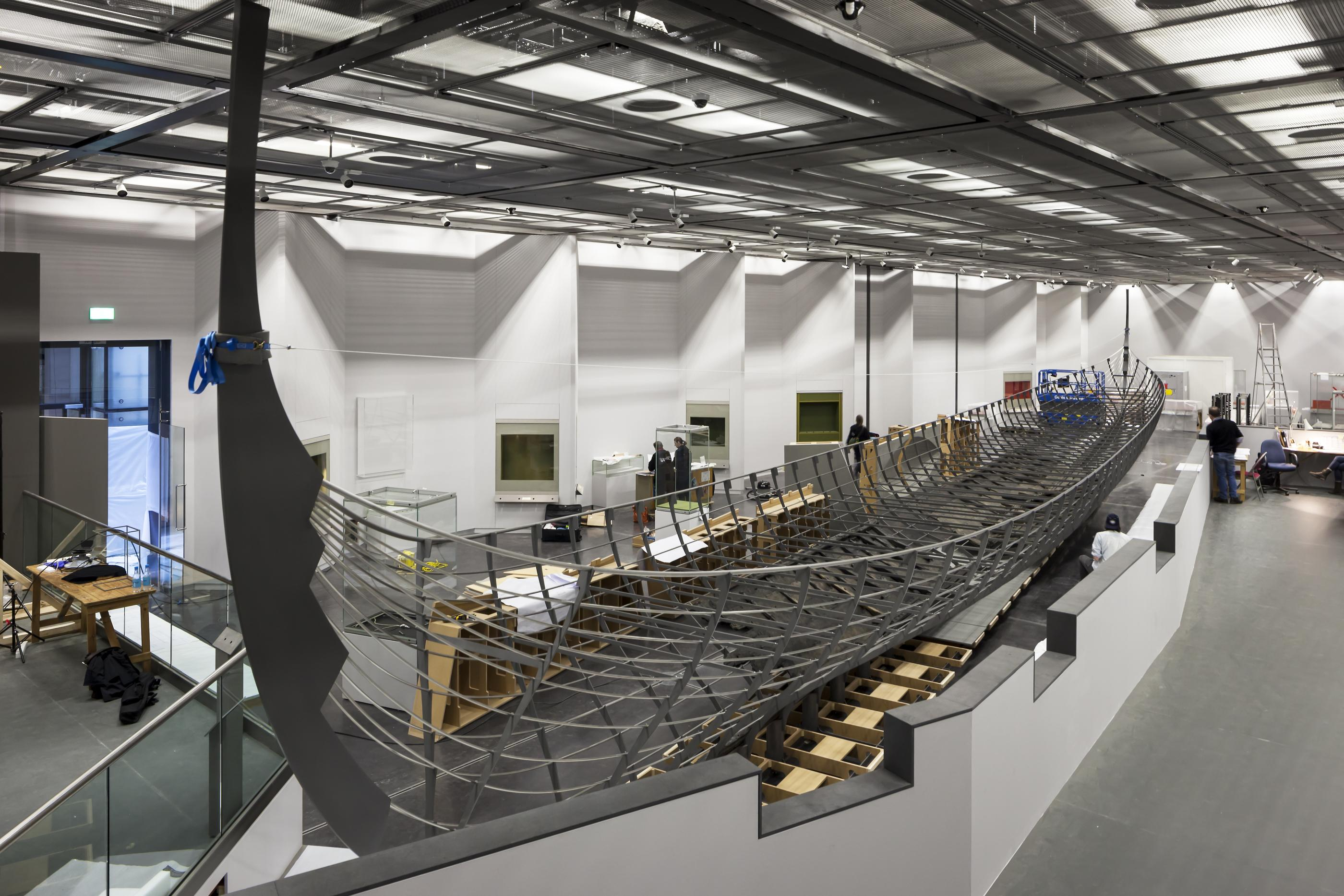The installation of Roskilde 6 at the British Museum in the Sainsbury Exhibitions Gallery, January 2014 © Paul Raftery