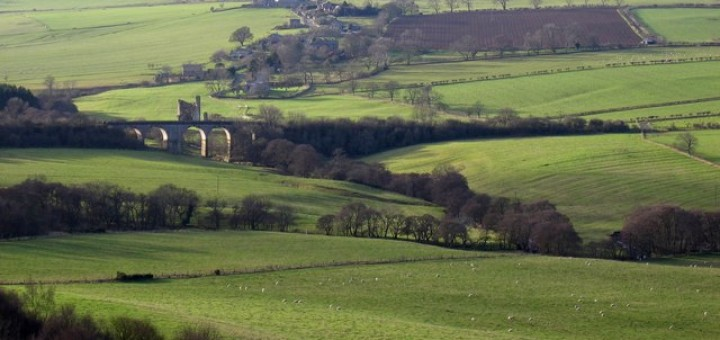 Distant view of Edlingham by Andrew Curtis