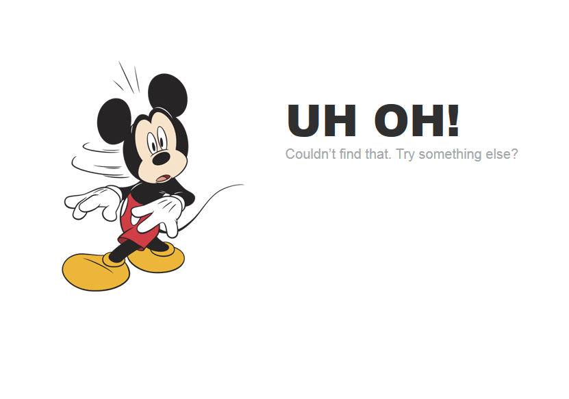 404 page with babble.com (c) Disney