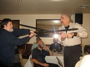 Some serious sword play! (c) Carole Linda Gonzalez