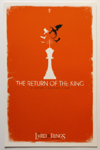 Tolkien Minimalist Posters: Patrick. Connan. The Return of the King (c), 2nd version