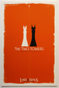 Tolkien Minimalist Posters: Patrick. Connan. The Two Towers (c), 2nd version