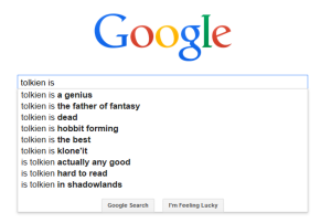 Tolkien is ... Google Autocomplete (c)