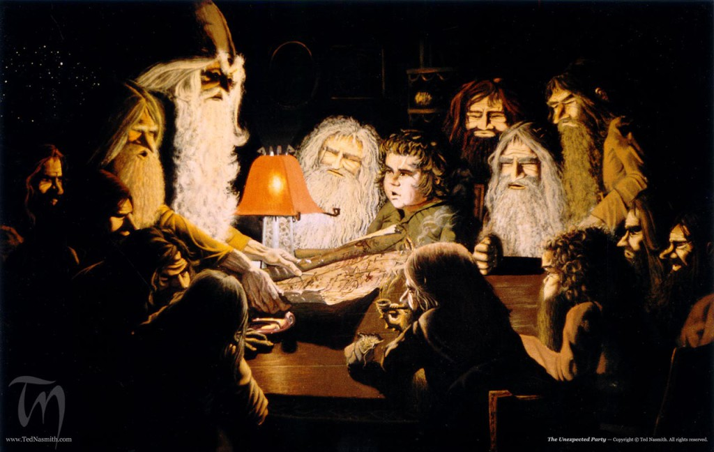 The Unexpected Party (c) by Ted Nasmith