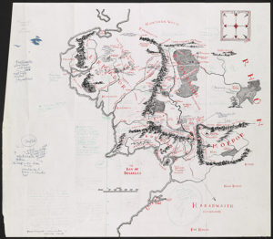 Annotated map of Middle-earth. © Williams College Oxford Programme & The Tolkien Estate Ltd, 2018