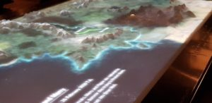 Tolkien: Maker of Middle-earth. 3D map of Middle-earth (c) Bodleian Libraries