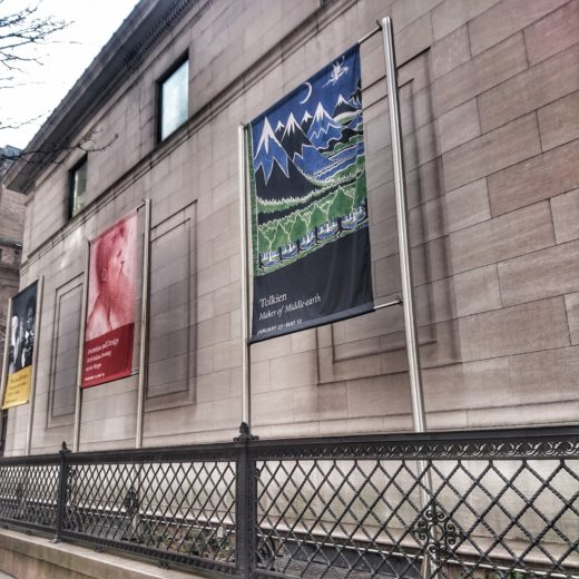 Banner of Tolkien exhibition in front of Morgan Library & Museum (c) Marcel Aubron-Bülles