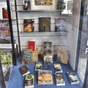 Tolkien books on display in an Aubusson bookstore