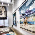 Wall hangings in the Tolkien Tapestries exhibition room, Cité International de la tapisserie