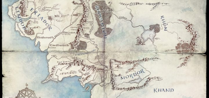 Map of Middle-earth. (c) Amazon Prime et al.