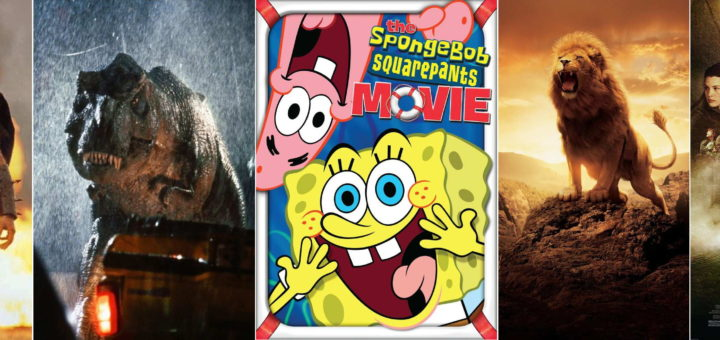 Jurassic Park, The Lord of the Rings, The SpongeBob Square Pants Movie, Braveheart, The Chronicles of Narnia: The Lion, the Witch and the Wardrobe film stills (c) respective owners
