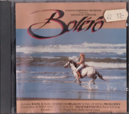London Symphony Orchestra* Conducted By Yan-Pascal Tortelier* – Bolero ℗ & © 1993 Kenwest / Disky. Marketing in Europe by Kenwest / Disky.