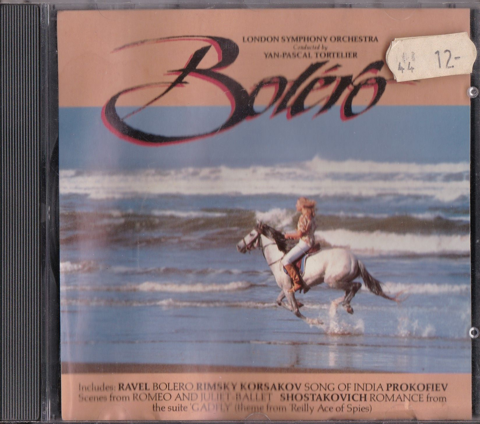London Symphony Orchestra* Conducted By Yan-Pascal Tortelier* ‎– Bolero ℗ & © 1993 Kenwest / Disky. Marketing in Europe by Kenwest / Disky.