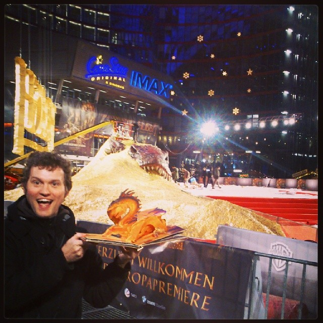 """European premiere of """"The Desolation of Smaug"""", Sony Center, Berlin, Dec 9, 2013"""