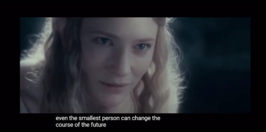 Even the smallest person can change the course of the future (c) Warner Bros, NLC, etc.